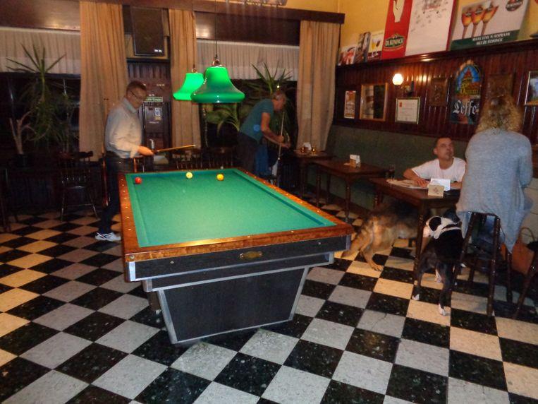 Café Den Breughel is de ontmoetingsplaats van vier biljartclubs