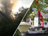 Grote woningbrand in Wageningen