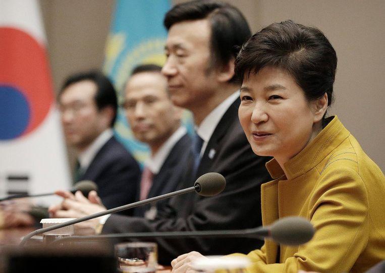 De Zuid-Koreaanse president Park Geun-hye. Beeld epa