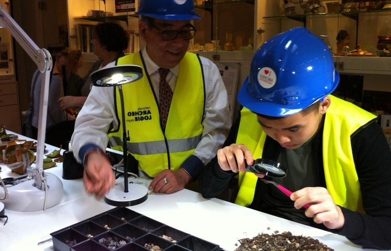 Tijdens de Nationale Archeologiedagen kun je onderzoek doen naar echte opgravingen. Beeld Allard Pierson Museum