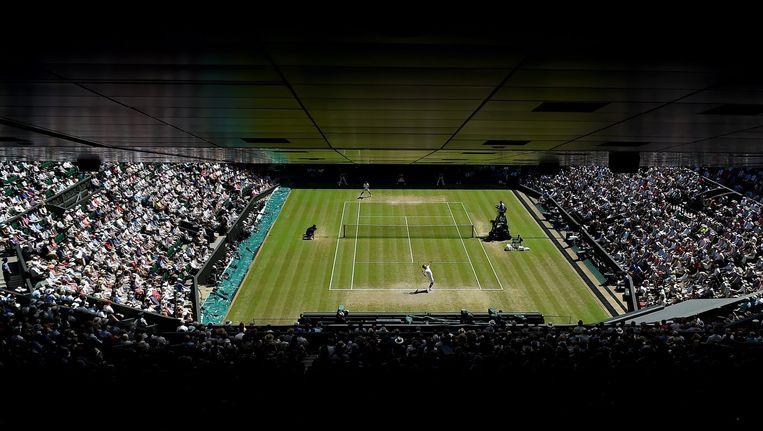 Een wedstrijd op Wimbledon. Beeld epa