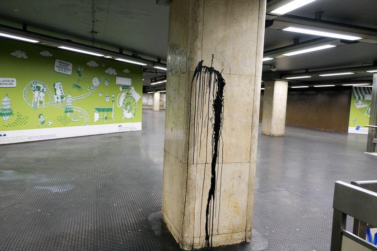 Metrostation beurs.