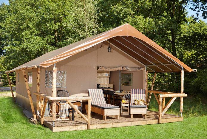 Glamping, een luxe vorm van kamperen.