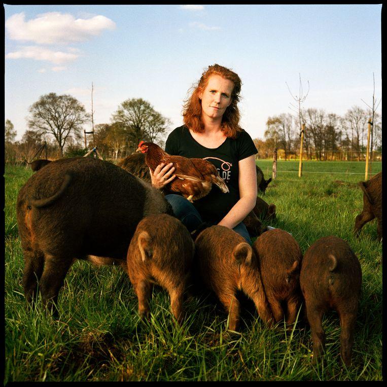 Inge Vleemingh (35): 'Hippe concepten als koopeenvarken.nl hebben we hier al sinds jaar en dag.'  Beeld Jan Dirk van der Burg