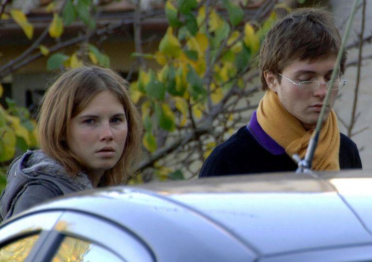 Amanda Knox en Raffaele Sollecito in 2007.