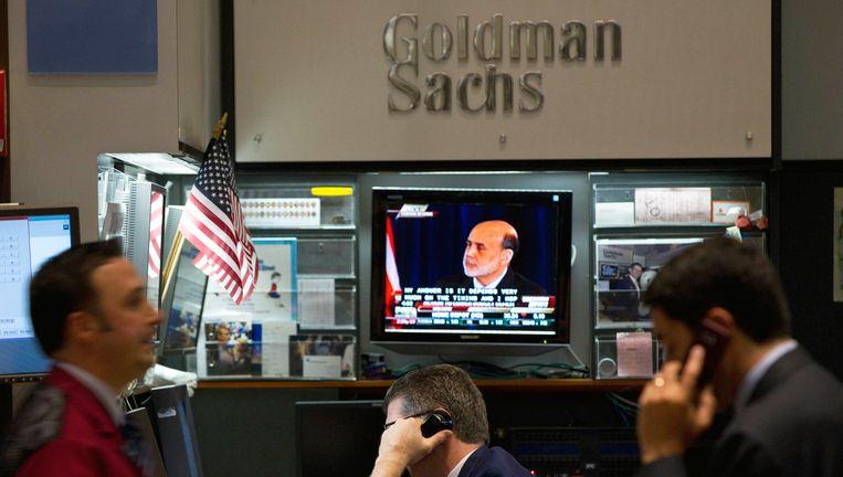 Analisten aan het werk bij Goldman Sachs. Beeld reuters