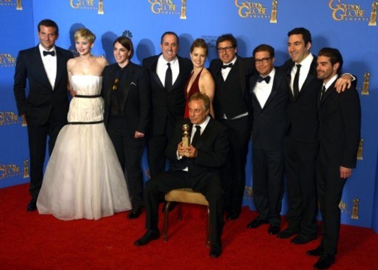 null Beeld De cast van American Hustle tijdens de uitreiking van de Golden Globe Awards. EPA