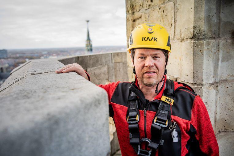 Peter Laureyssens, de verantwoordelijke van het hoogtereddingsteam, werd in 2017 'International instructor of the year'.
