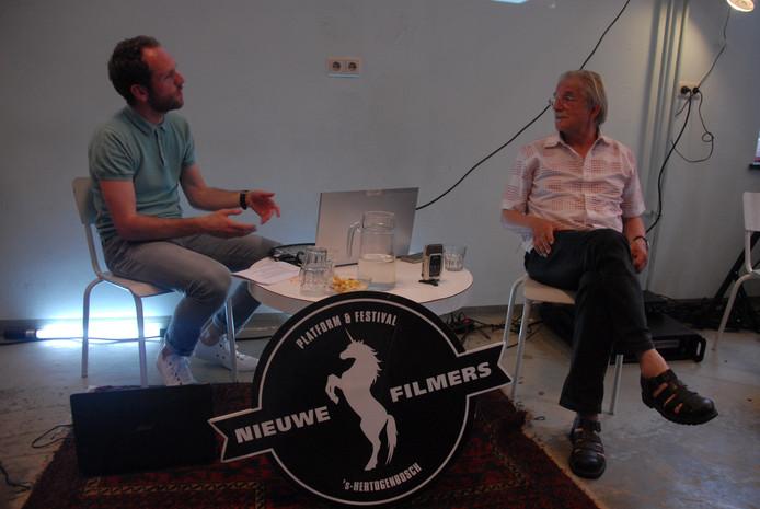 Interviewer/host Coen Haver en Frans Bromet