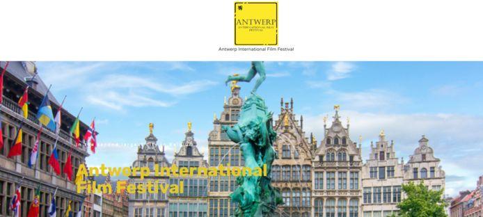 Een screenshot van de website van het nieuwe Antwerpse filmfestival. De website Filmfreeway haalde het festival ondertussen van haar website.