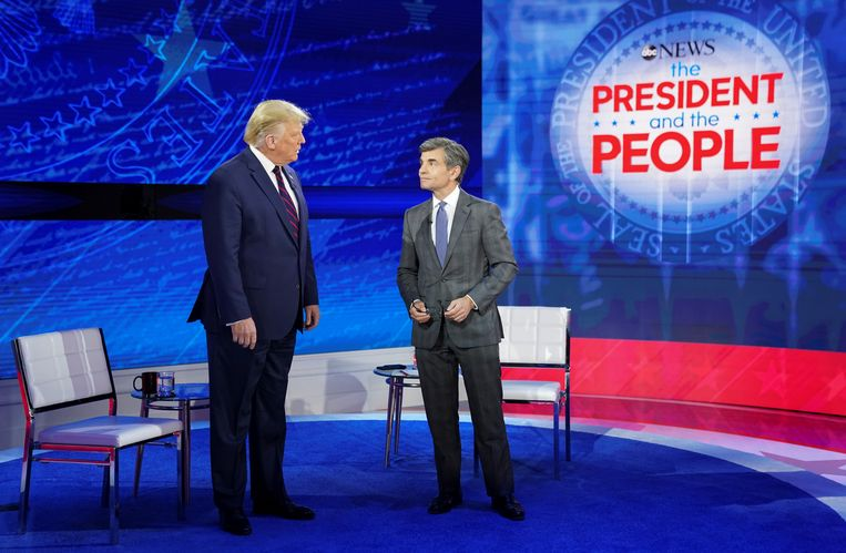 Donald Trump met anker George Stephanopoulos.