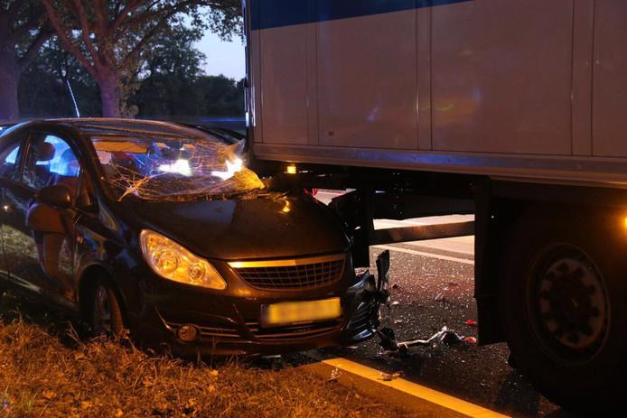 Het ongeluk op de N35 vond in de avondspits plaats.