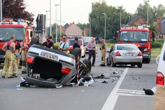 Het ongeval gebeurde ter hoogte van Houtland op de Eegene.