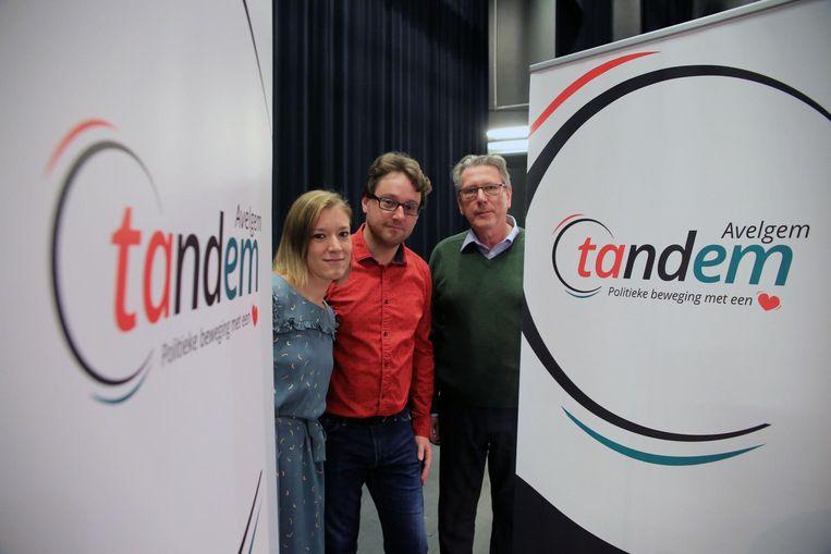 Sandra Platteau, Tom Beunens en Erik Vandereecken van Tandem.