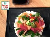 Chirashi Sushi met zalm en tonijn