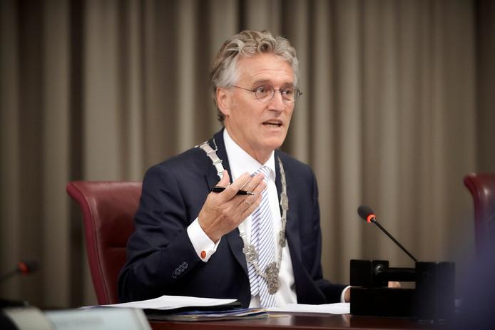 Burgemeester John Jorritsma.