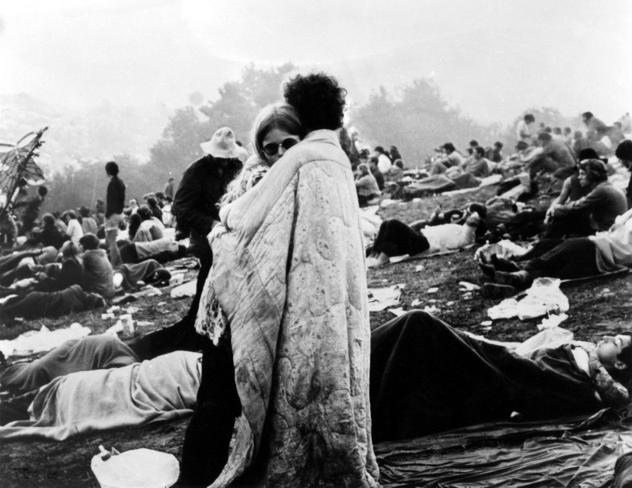Uit de documentaire 'Woodstock' (1970).