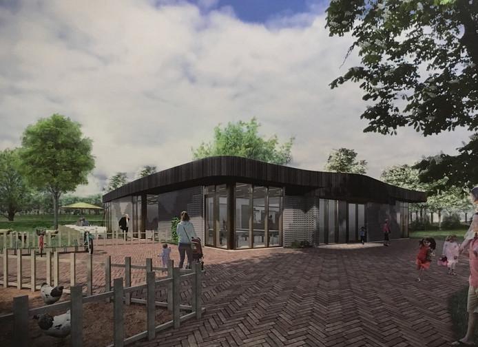 Een impressie van de nieuwbouw van Kinderboerderij De Boezemvriend in Oud-Beijerland.