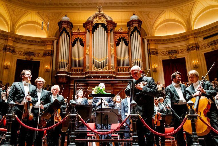 Jaap van Zweden te gast bij het Concertgebouworkest, waar hij de Willem Mengelberg-versie van Mahlers Tiende symfonie dirigeerde. Beeld ANP
