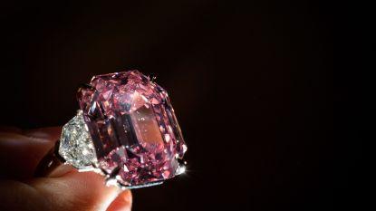 Zeldzame roze diamant voor 44 miljoen euro verkocht op veiling in Zwitserland
