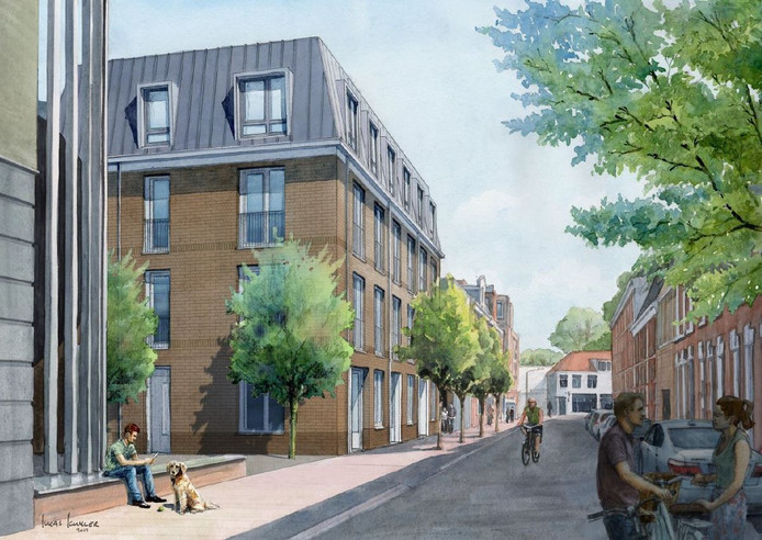 Het complex in Haarlem wordt ontworpen door Mulder Blauw Architecten.