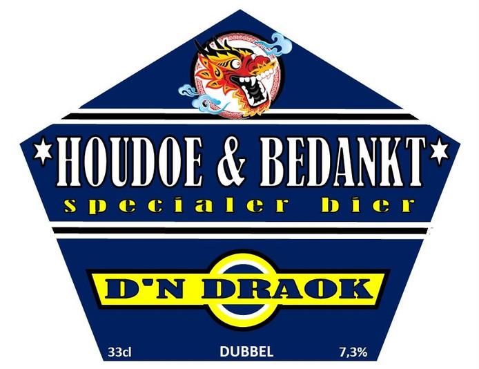 Etiket van het Houdoe & bedankt bier van D'n Draok