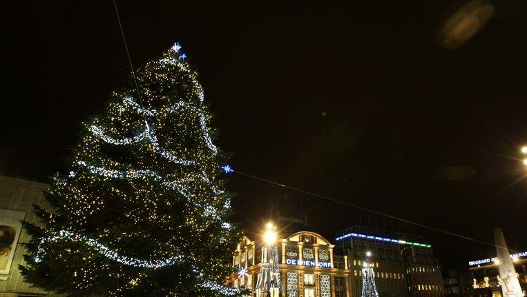 Lichtjes Kerstboom Dam Worden Zaterdag Ontstoken Het Parool