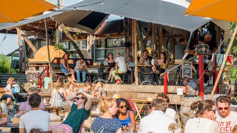 Bij Café de Ceuvel in Noord Beeld Jesper Boot