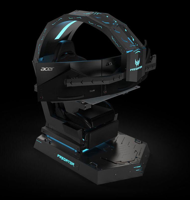 Gamers zitten knus in deze stoel van het Taiwanese Acer.