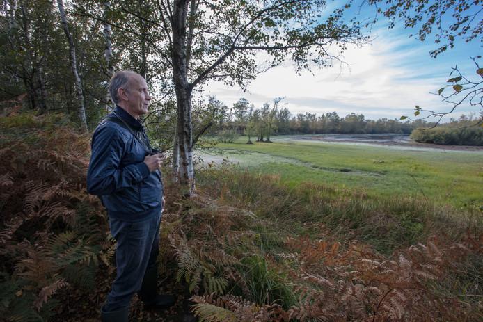 Wim van Opbergen van Werkgroep Behoud de Peel in de Peel bij Griendtsveen.