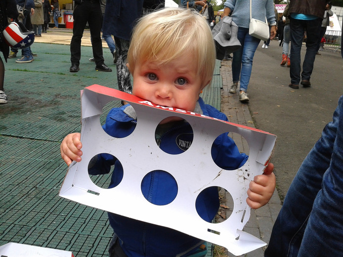 Jongste bezoeker op Breda Barst: Ven Kock, 1 jaar oud.
