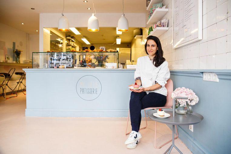 Audrey Krief: 'Eerst vroegen klanten om appeltaart, nu om eclairs' Beeld Carly Wollaert