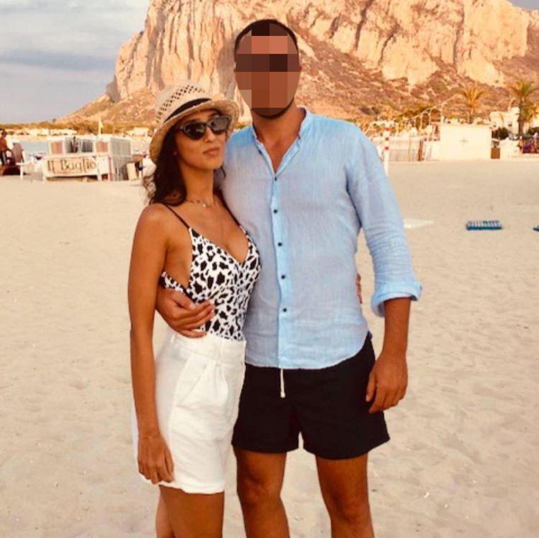 Lorena Quaranta en haar vriend Antonio.