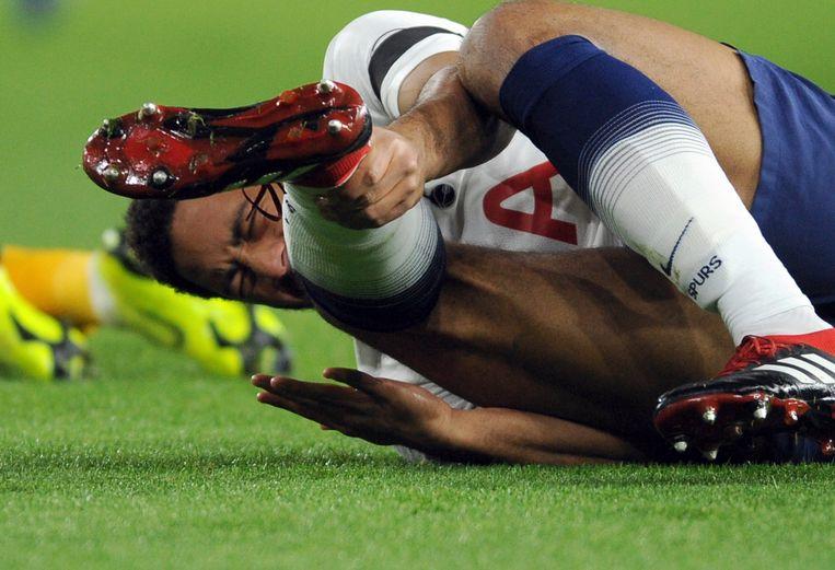 Dembélé viel al na twee minuten uit in Wolverhampton.