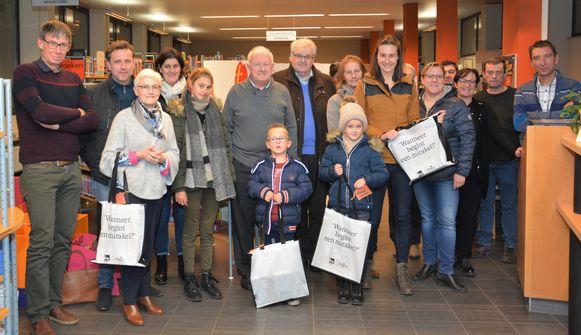 De winnaars van de verwendagwedstrijd in de bib van Pittem