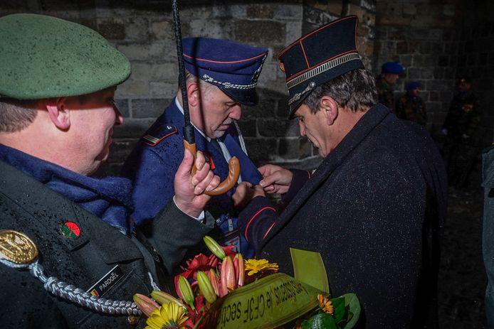 Herdenking van het einde van de Eerste Wereldoorlog in Ieper.