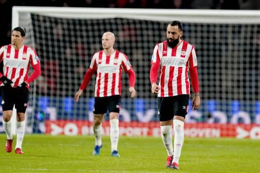 Mitroglou (r) van PSV.