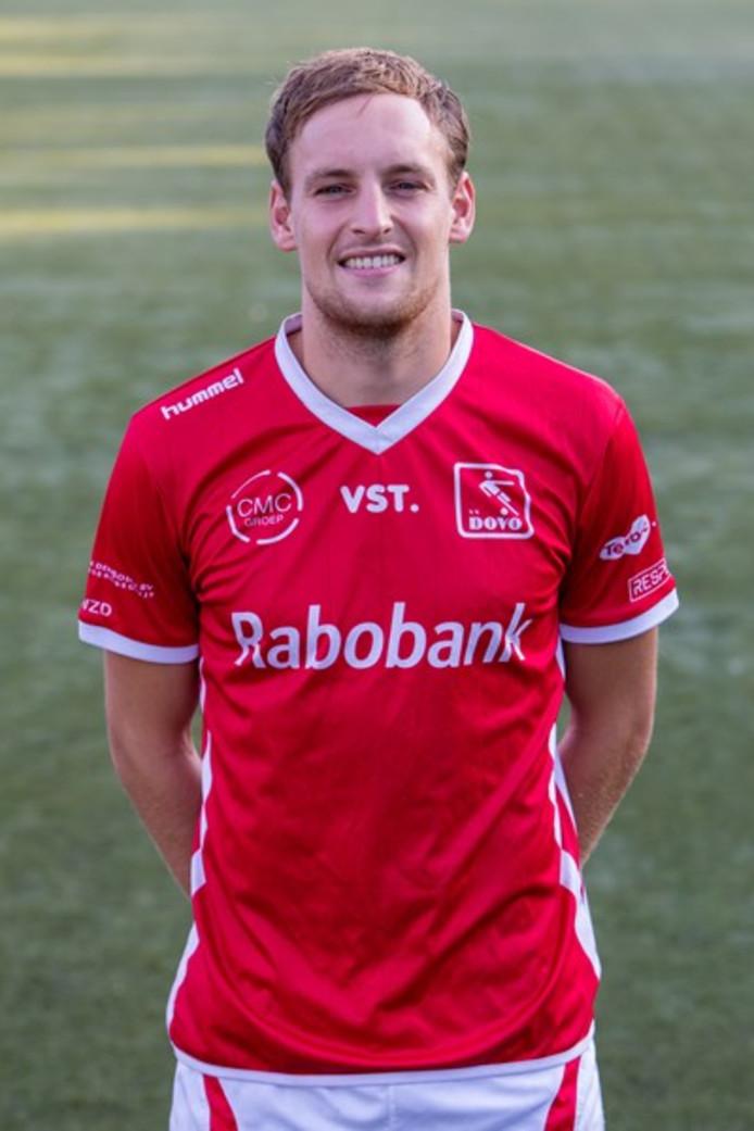 Simon van Zeelst scoorde vanmiddag voor DOVO.