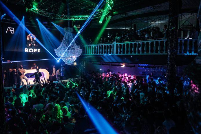 Club Déjàvu toen het nog open was, tijdens een concert van rapper Boef.