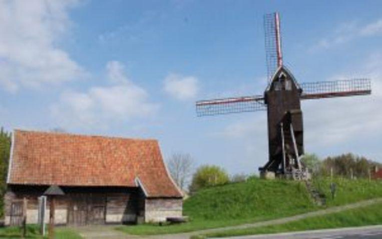 In het kader van 'Vlaanderen Feest' wordt er gepicknickt aan de Sceure, nabij de Meestermolen, in Oostvleteren.
