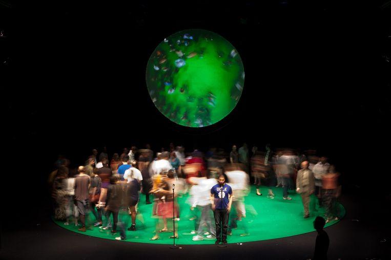 Uit het theaterproject 100% City: de uitvoering in Londen. Beeld Tim Mitchell