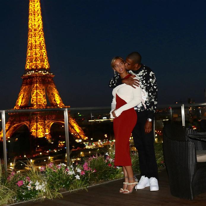 Beyoncé en Jay-Z beleefden in 2016 een romantische avond met zicht op de Eiffeltoren.