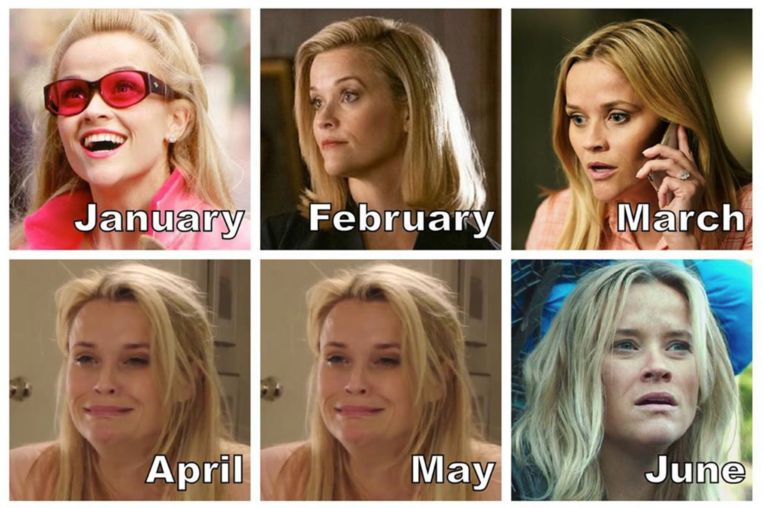 Reese Witherspoon maakte de #2020challenge populair.