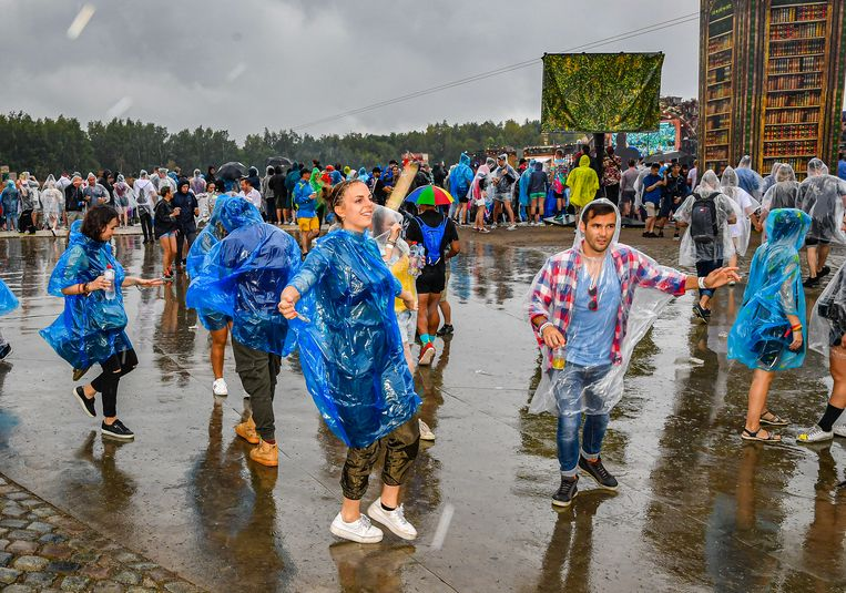 Het regent in Boom.