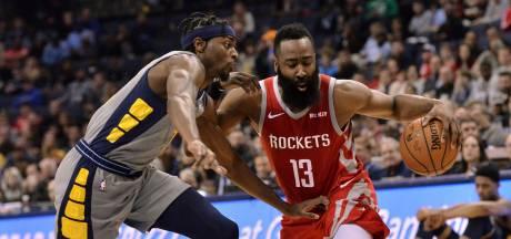 Rockets ondanks 57 punten Harden op valreep onderuit tegen Grizzlies