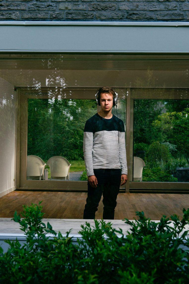 Peter Jan Rijpkema: 'Soms vind ik het frustreren dat juist ík doof ben, omdat ik zoveel van muziek hou.' Beeld Lukas Göbel