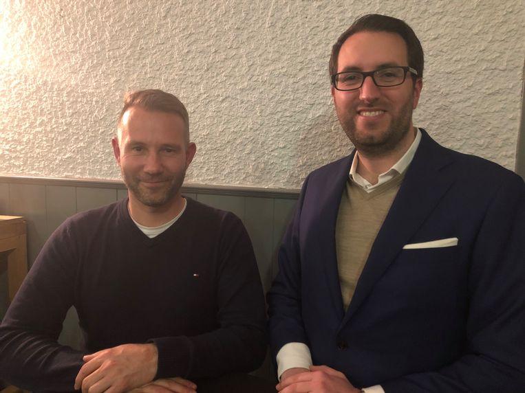 Ondervoorzitter Wim Thijs en voorzitter Wesley Jeunen.
