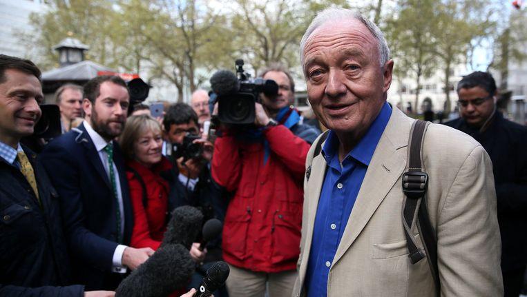 Labour-afgevaardigde en voormalig burgemeester van Londen 'Red' Ken Livingstone (rechts).