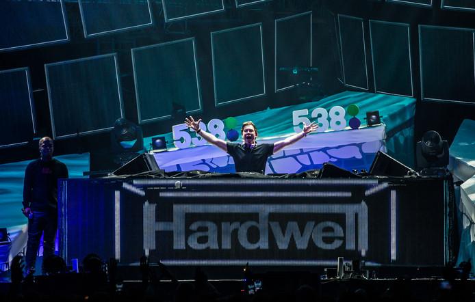 Dj Hardwell treedt op tijdens het 538JingleBall in de Ziggo Dome.