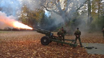 11 artillerieschoten in Stadspark herdenken einde WO I